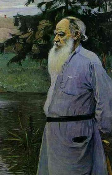Portrait of Tolstoy Leo Nikolayevich - the greatest work of Russian painting